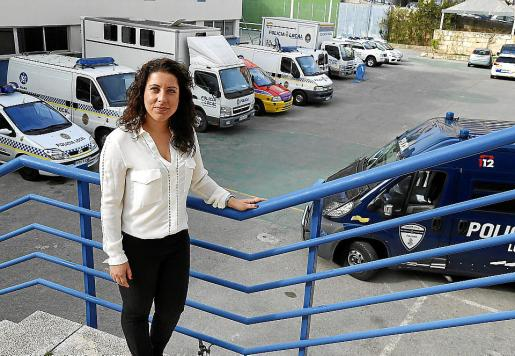 La regidora de Seguretat de Cort, Angélica Pastor, en Sant Ferran.