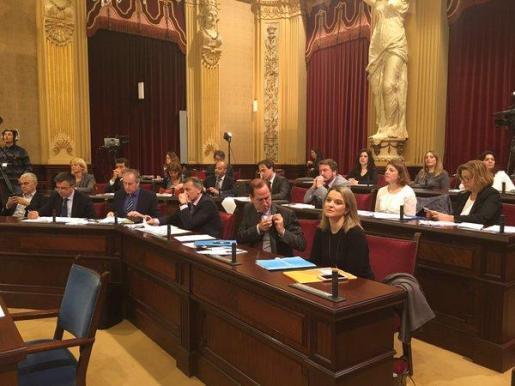 Imagen de la sesión de este martes en el Parlament.