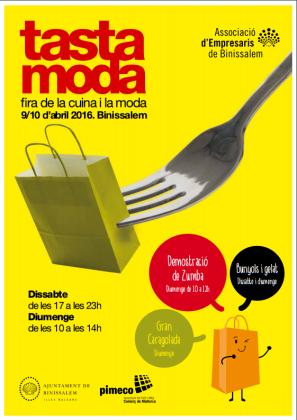 Cartel anunciador de la Fira Tastamoda de Binissalem.