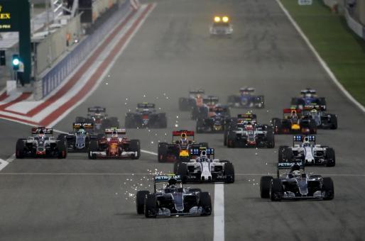 Salida del Gran Premio de Bahrein disputado el pasado fin de semana.