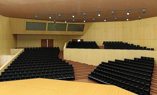 El auditorio menor está dotado de 481 asientos.