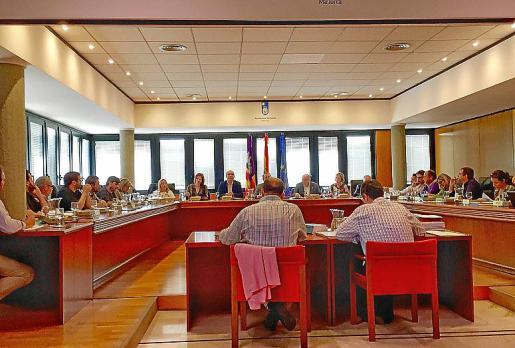 Imagen de la sesión plenaria celebrada la semana pasada en Calvià.