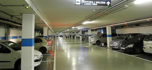 Imagen del aparcamiento subterráneo de Vía Roma.