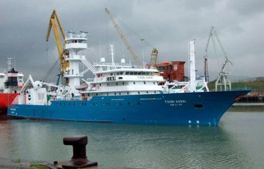 Imagen de archivo del pesquero 'Txori Gorri'. Foto:EFE