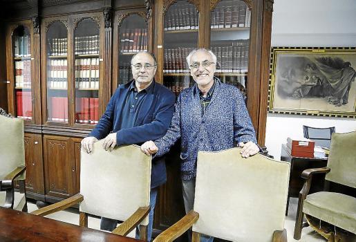Josep Prohens y Cesc Mulet este viernes en Palma.