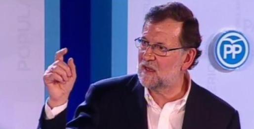Mariano Rajoy, este sábado en Barcelona.