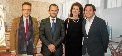 Joan Punyet, Javier Vich, Carmen Planas y Joaquín Caldentey.