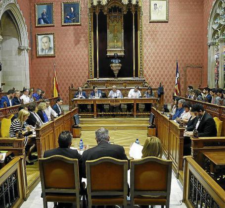 Imagen de una sesión del pleno del Consell de Mallorca.