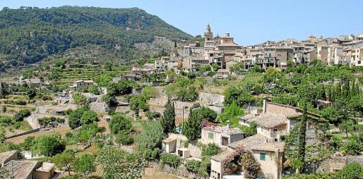 Vista del municipio de Valldemossa.