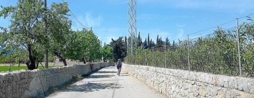 Se acondicionarán el pavimento de la vía y la señalización y se limpiarán los laterales en la ruta cicloturística de Santa Eugènia a Pollença.