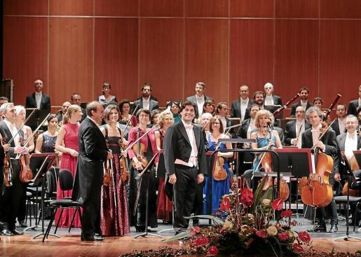 La Orquestra Simfònica de Balears, en una de sus actuaciones.