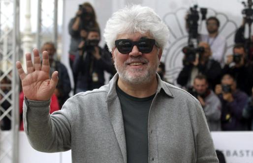 El realizador Pedro Almodóvar a su llegada al Festival Internacional de Cine de San Sebastián el pasado mes de septiembre.
