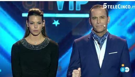 Laura Matamoros y Carlos Lozano, durante el programa.