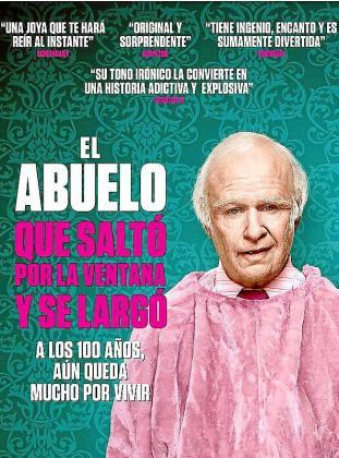 Cartel de la cinta titulada 'L'avi de 100 anys que es va escapar per la finestra'.