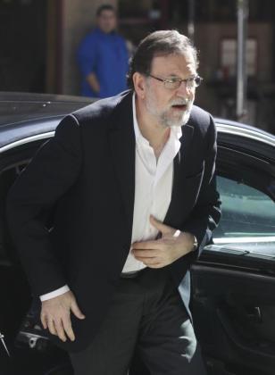 Mariano Rajoy a su llegada al congreso del PP en Pontevedra