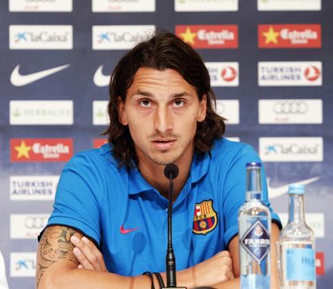 Zlatan Ibrahimovic, jugador sueco del F.C. Barcelona, por el momento.