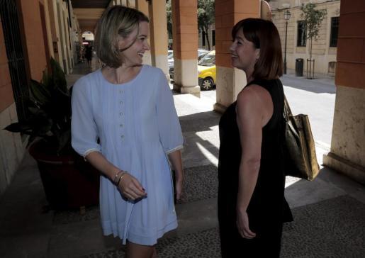 Margalida Prohens y Francina Armengol, en una imagen de archivo.