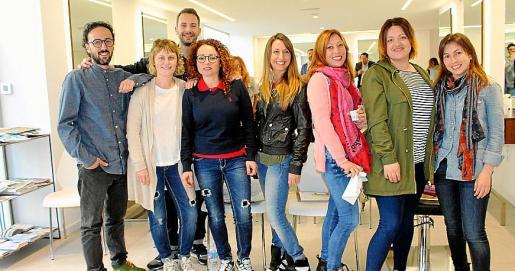 Los estilistas Enrique Pedroche, Antonio Morro, María José Planas, Malén Rubio, Vanessa Noceda, Yasmina Martínez, Estefi Gomila y Teresa Salord.