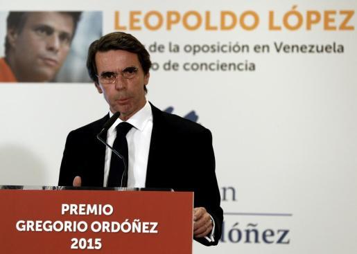 El expresidente del Gobierno José María Aznar durante un acto.