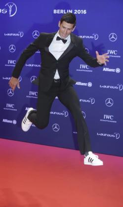 El tenista serbio Novak Djokovic a su llegada a la gala de los Premios Laureus.