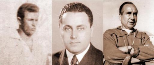 Fotografías de archivo de Mogoi, segundo jugador extranjero de la historia; El Conde de Olocau, expresidente; y Sátur Grech, quien pasó de ser jugador a entrenador.