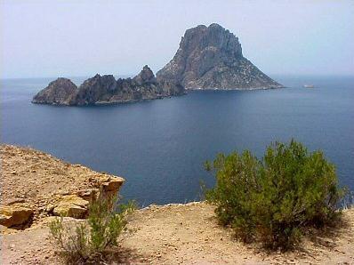 Fotografía de Es vedrà, en Eivissa.