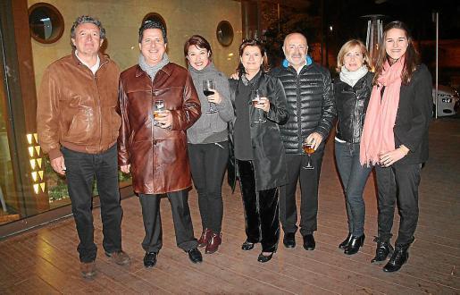 Miquel Dols, Andreu Riera, Abigail Sardón, Amelia Forteza, Carles e Isabel Ponseti y Maria Rosselló.