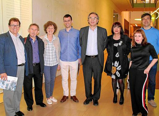 Llorenç Huguet, Miquel Perelló, María Alorda, Dani Ruiz, Martí March, Rafaela Sánchez, Jaume Ribas y Nekane Aramburu.