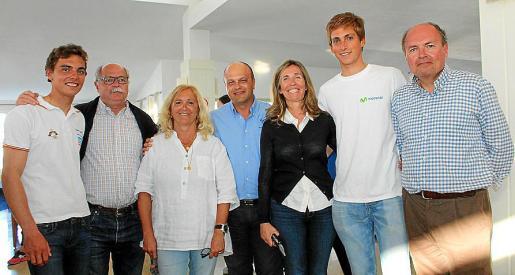 Jordi y Pere Xammar, Cristina Hernández, Stanislav Kassarov, Núria Morell, Joan Herp y su padre, Joan Herp.