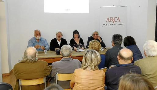 Nicolau, Rabassa, Fermoselle y García-Delgado este martes durante el acto organizado por ARCA.