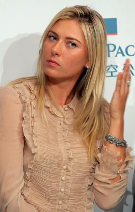 La tenista rusa Maria Sharapova está realizando una gira por Asia.