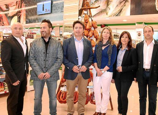 Josep Lluís Aguiló, Pedro Font, Antoni Font, Pilar Sansó, Cristina Nicolau y Joan Aguiló.