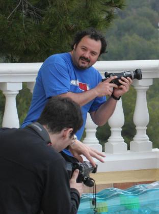 El director y productor de cine porno Torbe durante un rodaje en Mallorca.