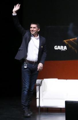 El dirigente de la izquierda abertzale, Arnaldo Otegi, interviene en un foro organizado por el diario Gara.