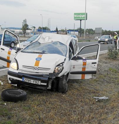 El accidente del taxi en la autopista del
