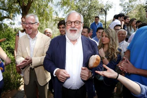 Miguel Arias Cañete (PP) durante la campaña de las pasadas elecciones europeas.