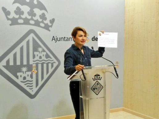 Margalida Durán ha ofrecido este viernes una rueda de prensa.