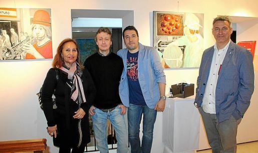 Marisa Cañas, Fernando Martín, David Cambil y Alejandro Maciá.