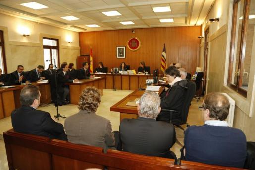 El banquillo de parte de los acusados, durante la vista celebrada este martes en Palma.