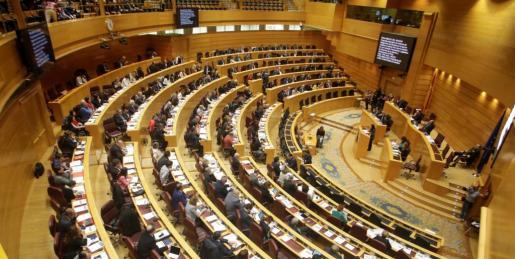 Vista de un pleno del Senado en esta pasada XI legislatura.