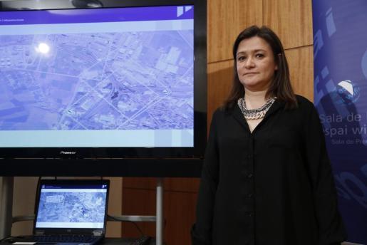 La consellera insular de Territori i Infraestructures, Mercedes Garrido.