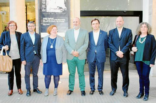 Catalina Socias, Josep Cerdà, Ruth Mateu, Miquel Ensenyat, Francesc Miralles, Jaume Gomila y Margalida Estelrich.