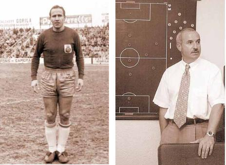 A laizquierda, Lorenzo, el primer técnico en ascender al equipo a Primera. A la derecha, Serra Ferrer, técnico con más partidos en la historia.