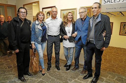 Patricio Serra, Carmen de Cabo, Pascual de Cabo, Miquela Vidal, Luis Maraver y Emilio Maraver.