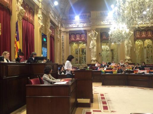 Imagen del Parlament en la jornada en la que se ha aprobado la norma contra la discriminación por razones sexuales.