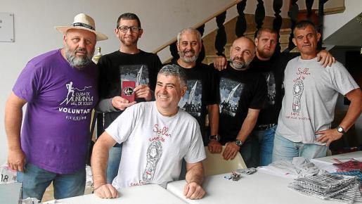 Pep Capó, Biel Rodríguez, Llorenç Seguí, Xisco Aguiló, Agustí Cánoves, Biel Dols y Pep Coll.