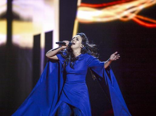 La cantante ucraniana Jamala interpretando '1994'. Foto: MAJA SUSLIN