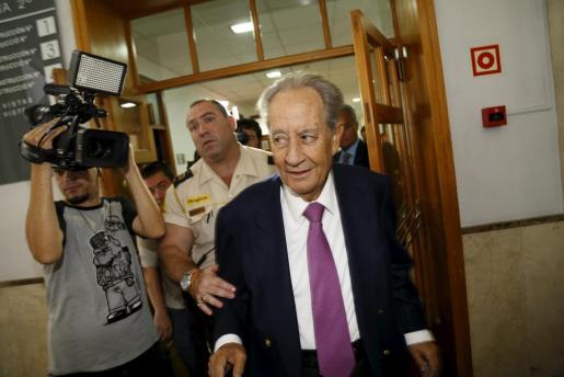 Juan Miguel Villar Mir, en septiembre pasado en los juzgados de Vía Alemania.