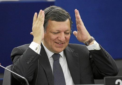 El presidente de la Comisión Europea, Durao Barroso, ayer en el Parlamento Europeo en Estrasburgo.