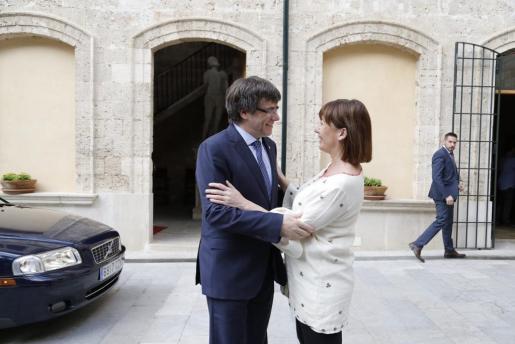 Palma local armengol y puigdemont, presidente catalan fotos Teresa Ayuga